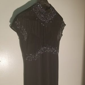 Stenay Vintage Black Silk Seguin Beaded Dress
